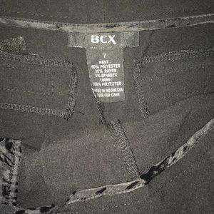 BCX Shorts - BCX Black Bermuda Length Dress Shorts